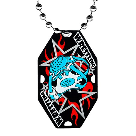 2.5 in Wrestling Dog Tag w/ Chain