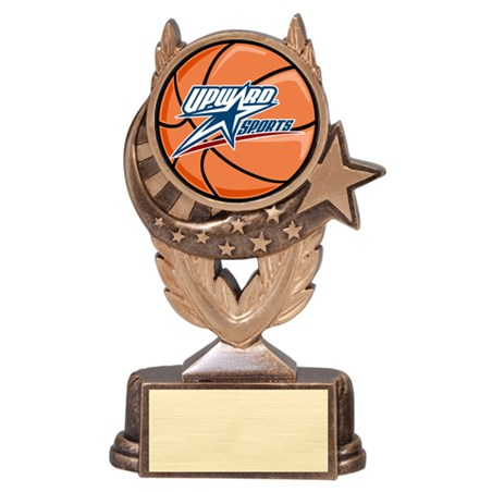 Basketball Trophy with Mylar Scene