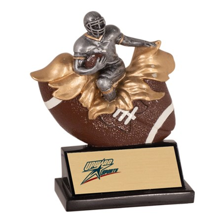 "5-1/4"" Xploding Resin Football Trophy"