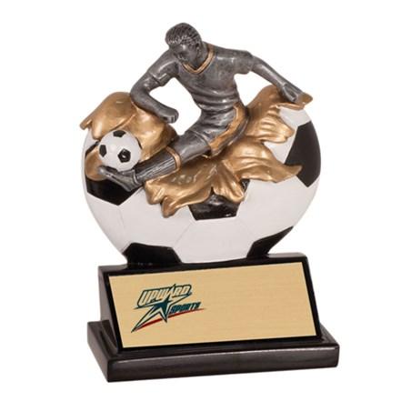 5-1/4 in Xploding Male Resin Soccer Trophy
