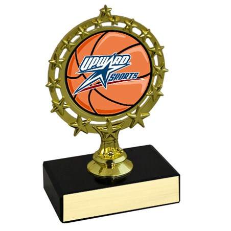 "4-3/4"" Star Circle Basketball Trophy"