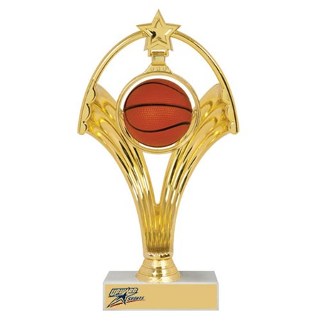 7-3/4 in Swinging Figure Basketball Trophy
