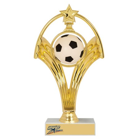 "7-3/4"" Swinging Figure Soccer Trophy"