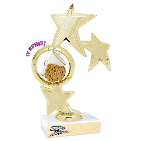 8.75 in Spinning Cheer Theme Trophy