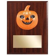 Halloween Plaque - 3D Pumpkin