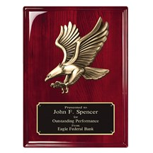 Rosewood Piano Finish Eagle Plaque - 2 Sizes