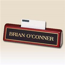 Rosewood Nameplate w/ Business Cardholder