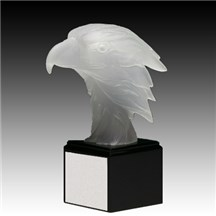 Elegant Frosted Eagle Resin - 3 Sizes