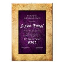 Vintage Stone Purple Acrylic Plaque - 3 Sizes