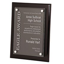 Black Piano Finish Floating Acrylic Plaque - 2 Sizes