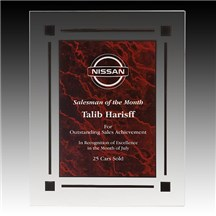 Red Marble Acrylic Plaque - 3 Sizes