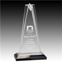 Silver Star Acrylic Award - 3 Sizes