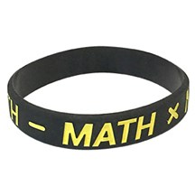 Math Silicone Wrist Band