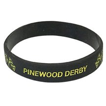 Pinewood Derby Silicone Wrist Band