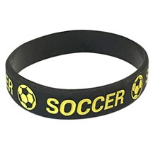 Soccer Silicone Wrist Band