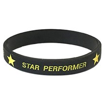 Star Performer Silicone wrist Band
