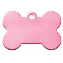 Pink Dog Bone Pet Tag