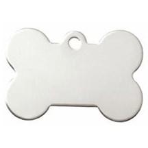 Silver Dog Bone Pet Tag
