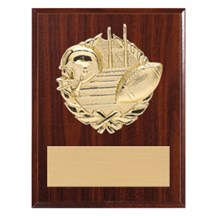 3D Gold Mount Football Plaque