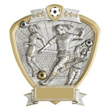 Female Soccer Resin Shield