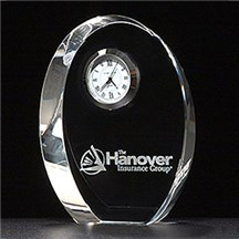 Crystal Oval Desk Clock
