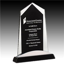 Glass Award w/ Silver Aluminum Accents
