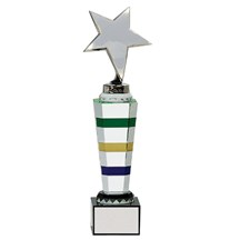 Crystal 3-Color Column w/ Metal Star - 2 Sizes