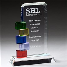 Colorful Glass Award - 3 Sizes