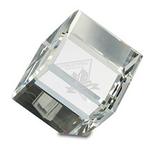 Optic Crystal Cube Paperweight - 3 Sizes