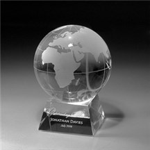 Optic Crystal Globe Award