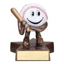 Happy Baseball Trophy