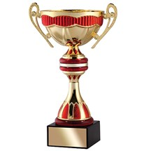 Gold Metal Cup w/ Red Accents - 3 Sizes