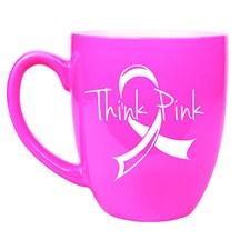 16 oz. Ceramic Bistro Mug - Pink