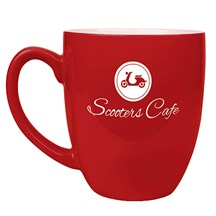 16 oz. Ceramic Bistro Mug - Red
