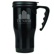 14 oz. Stainless Steel Travel Mug - Black
