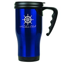 14 oz. Stainless Steel Travel Mug - Blue