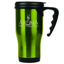 14 oz. Stainless Steel Travel Mug - Green
