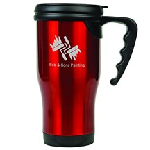 14 oz. Stainless Steel Travel Mug - Red