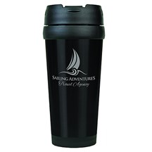 16 oz. Stainless Steel Travel Mug - Black