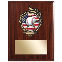 Victory Flame Baseball Plaque
