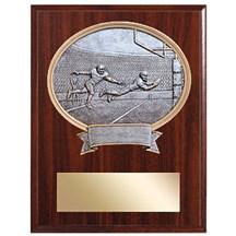 Resin Sport Oval Football Plaque