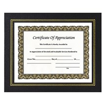 Black Leatherette Certificate Holder