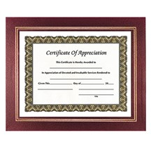 Leatherette Certificate Holder - Burgundy