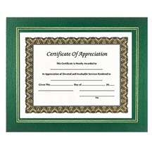Leatherette Certificate Holder - Green