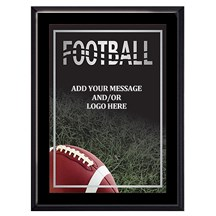Exclusive Football Plaque - 4 Sizes