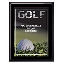 Exclusive Golf Plaque - 4 Sizes