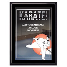 Exclusive Karate Plaque - 4 Sizes