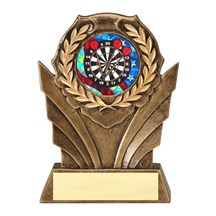 Youth Dart Trophy with Mylar Scene