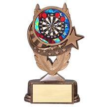 Dart Trophy with Mylar Scene