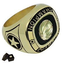 Gold Metal Basketball Ring - 5 Sizes